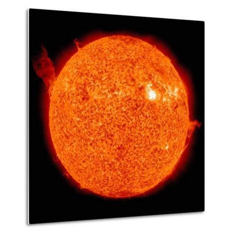 Solar Activity on the Sun-Stocktrek Images-Metal Print