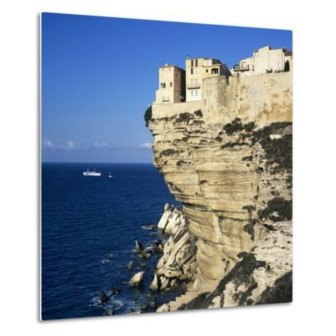 Haute Ville on Cliff Edge, Bonifacio, South Corsica, Corsica, France, Mediterranean, Europe-Stuart Black-Metal Print