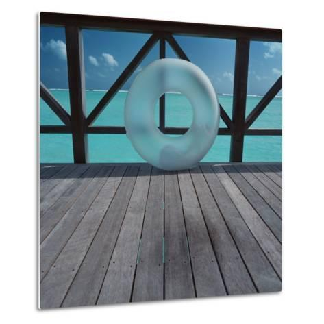 Inflatable rubber ring--Metal Print