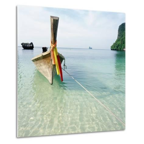 Traditional long tail boat, Thailand--Metal Print