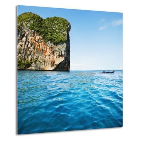 Phang-Nga Bay Island with Mountains-JoSon-Metal Print