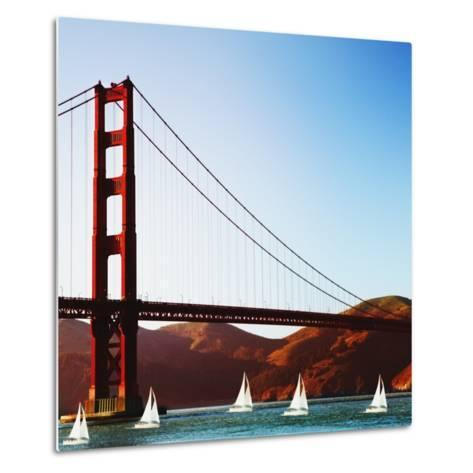 Golden Gate Bridge-JoSon-Metal Print