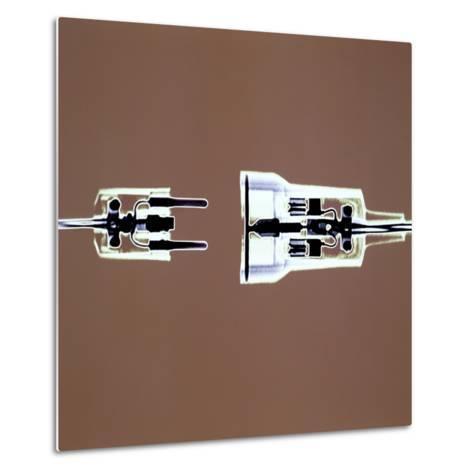 Cross-section of Electrical Plug--Metal Print