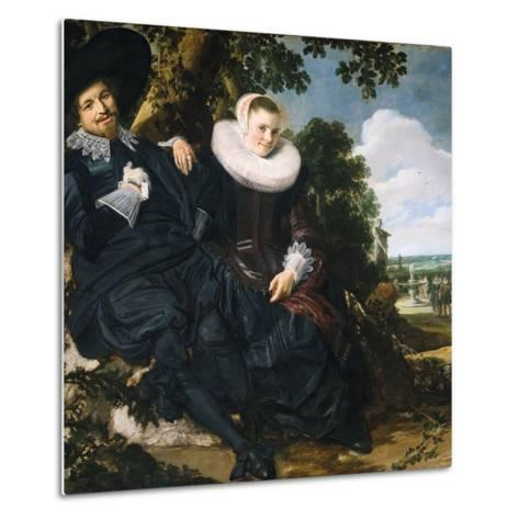 Marriage Portrait of Isaac Massa and Beatrix van der Laen-Frans Hals the Elder-Metal Print