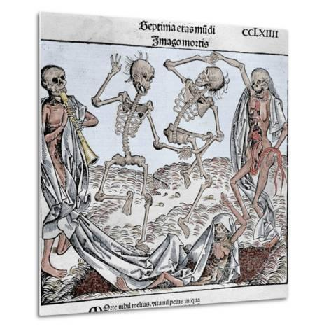 The Dance of Death (1493) by Michael Wolgemut, from the Liber Chronicarum by Hartmann Schedel-Prisma Archivo-Metal Print