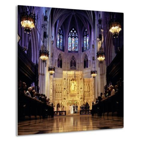 Wedding Ceremony at the High Altar of the National Cathedral-Rex Stucky-Metal Print