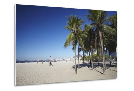 Copacabana Beach, Rio de Janeiro, Brazil, South America-Ian Trower-Metal Print