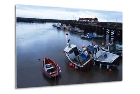 Fishing Boats in the Harbour at Bridlington, East Riding of Yorkshire, Yorkshire, England, UK-Mark Sunderland-Metal Print