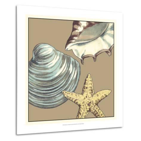 Shell Trio on Khaki IV-Megan Meagher-Metal Print