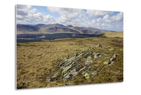 Galloway Hills from Rhinns of Kells, Dumfries and Galloway, Scotland, United Kingdom, Europe-Gary Cook-Metal Print