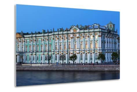 The Winter Palace in Evening Light, UNESCO World Heritage Site, St. Petersburg, Russia, Europe-Martin Child-Metal Print