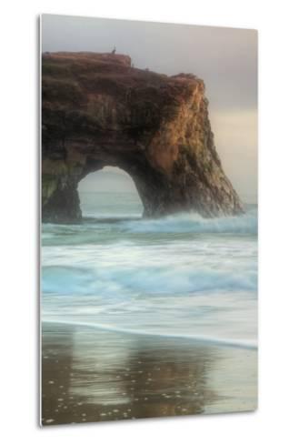 Natural Bridge Portrait, Santa Cruz-Vincent James-Metal Print