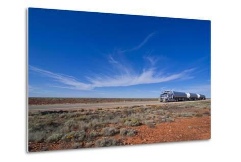 Truck Riding Through the Outback of South Australia, Australia, Pacific-Michael Runkel-Metal Print