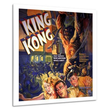 King Kong, Fay Wray, Robert Armstrong, Bruce Cabot, 1933--Metal Print