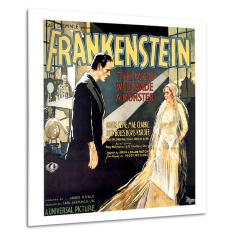 Frankenstein, Boris Karloff, Mae Clarke, 1931--Metal Print