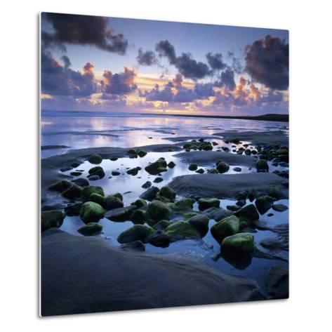 Sunset over Rock Pool, Strandhill, County Sligo, Connacht, Republic of Ireland, Europe-Stuart Black-Metal Print