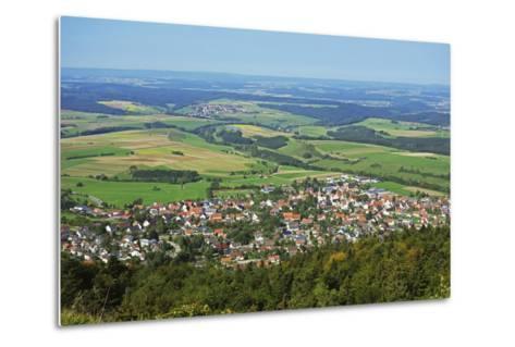 View of Denkingen and Baar from Dreifaltigkeitsberg, Baden-Wurttemberg, Germany, Europe-Jochen Schlenker-Metal Print