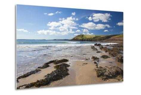 Manorbier, Pembrokeshire, Wales, United Kingdom, Europe-Billy Stock-Metal Print