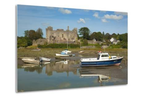 Laugharne Castle, Carmarthenshire, Wales, United Kingdom, Europe-Billy Stock-Metal Print