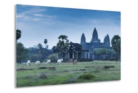 Temple Complex of Angkor Wat, Angkor, UNESCO World Heritage Site, Siem Reap, Cambodia, Indochina-Andrew Stewart-Metal Print