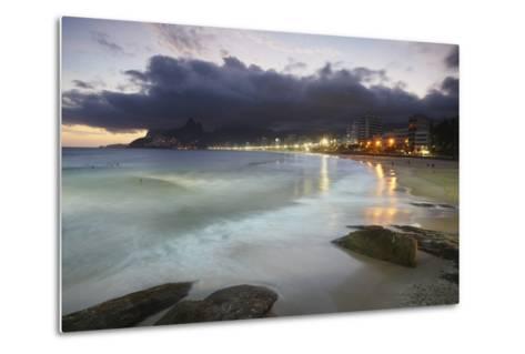 Ipanema Beach at Sunset, Rio de Janeiro, Brazil, South America-Ian Trower-Metal Print