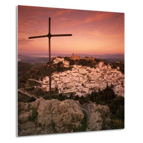 Sunrise over Typical White Andalucian Village, Casares, Andalucia, Spain, Europe-Stuart Black-Metal Print