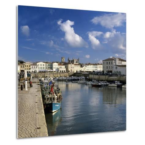 Harbour and Abbey, St. Martin, Ile de Re, Poitou-Charentes, France, Europe-Stuart Black-Metal Print