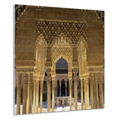 Court of the Lions, Alhambra Palace, UNESCO World Heritage Site, Granada, Andalucia, Spain, Europe-Stuart Black-Metal Print