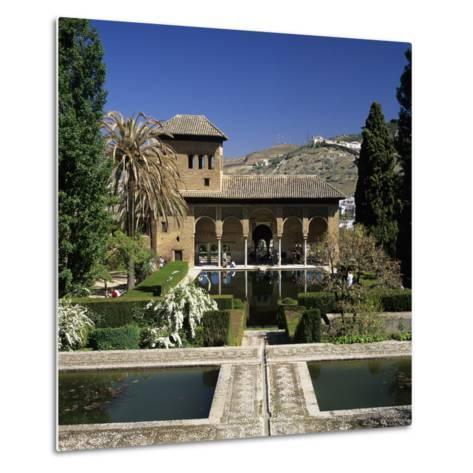 View over Gardens, Alhambra Palace, UNESCO World Heritage Site, Granada, Andalucia, Spain, Europe-Stuart Black-Metal Print