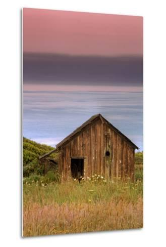 Sea Shack and Watermelon Sky-Vincent James-Metal Print