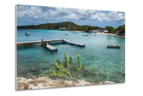 Bay of Kleine St. Michel in Curacao, ABC Islands, Netherlands Antilles, Caribbean, Central America-Michael Runkel-Metal Print