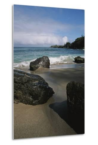 Volcanic Beach Rocks Along the West Coast of Maui-Marc Moritsch-Metal Print