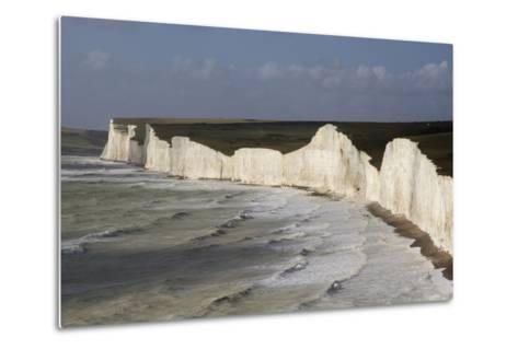 Seven Sisters from Birling Gap, South Downs National Park, East Sussex, England, United Kingdom-Rolf Richardson-Metal Print