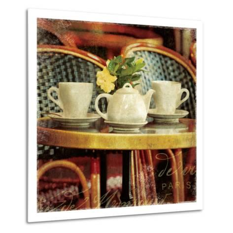 Parisian Cafe II-Wild Apple Photography-Metal Print