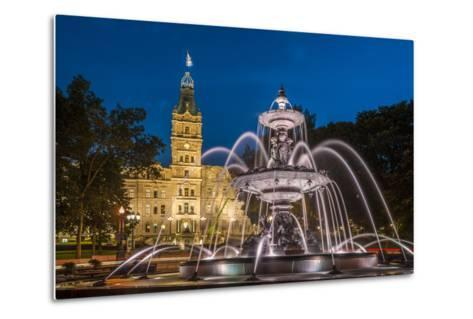 Fontaine de Tourny, Quebec City, Province of Quebec, Canada, North America-Michael Snell-Metal Print