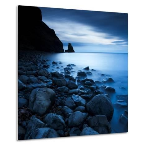 Talisker Bay under a Winter Moon-Doug Chinnery-Metal Print