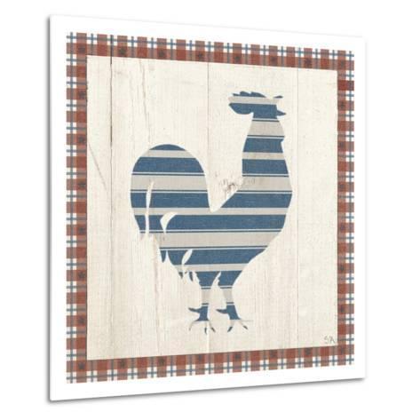 Americana Rooster-Sarah Adams-Metal Print