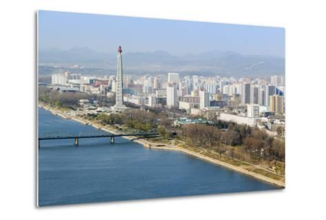 City Skyline and the Juche Tower, Pyongyang, Democratic People's Republic of Korea (DPRK), N. Korea-Gavin Hellier-Metal Print