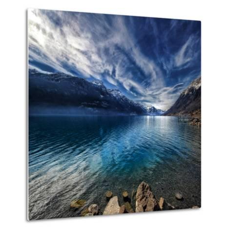 Blue Mountains-Philippe Sainte-Laudy-Metal Print