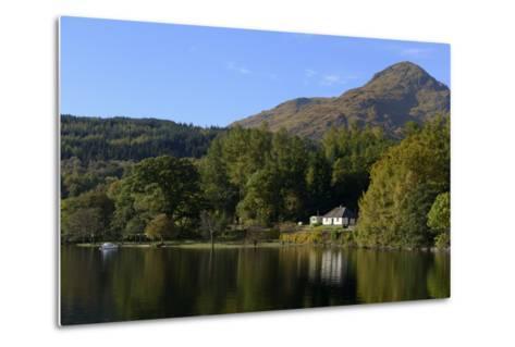 Waterside Cottage, Inveruglas, Loch Lomond, Stirling, Scotland, United Kingdom, Europe-Peter Richardson-Metal Print
