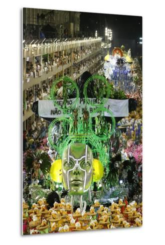 Carnival Parade at the Sambodrome, Rio de Janeiro, Brazil, South America-Yadid Levy-Metal Print