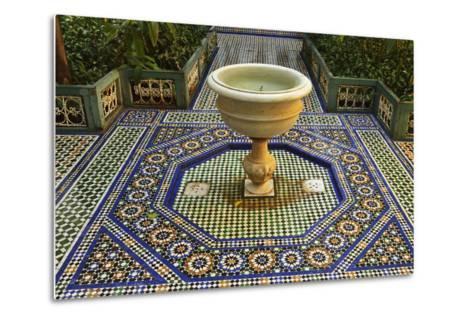 Fountain, Palais de la Bahia, Medina, Marrakesh, Morocco, North Africa, Africa-Jochen Schlenker-Metal Print