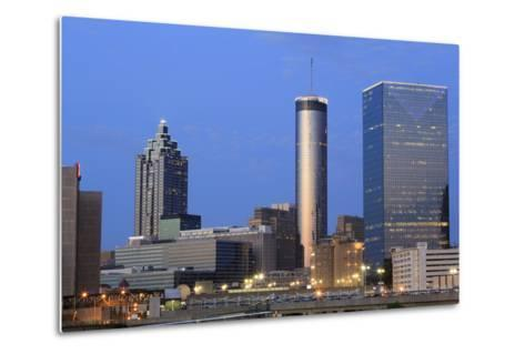 City Skyline at Dusk, Atlanta, Georgia, United States of America, North America-Richard Cummins-Metal Print
