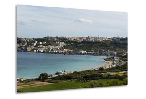 Bay of Il-Mellieha, Malta, Mediterranean, Europe-Michael Runkel-Metal Print