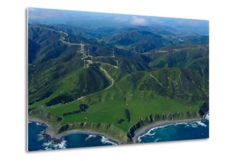 View of Wellington from the Air, North Island, New Zealand, Pacific-Bhaskar Krishnamurthy-Metal Print