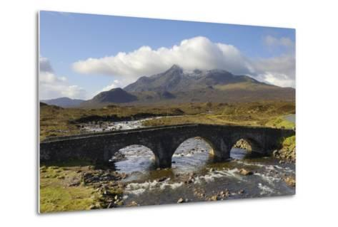 Sgurr Nan Gillean from Sligachan, Isle of Skye, Inner Hebrides, Scotland, United Kingdom, Europe-Gary Cook-Metal Print