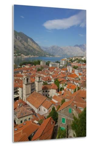 View over Old Town, Kotor, UNESCO World Heritage Site, Montenegro, Europe-Frank Fell-Metal Print