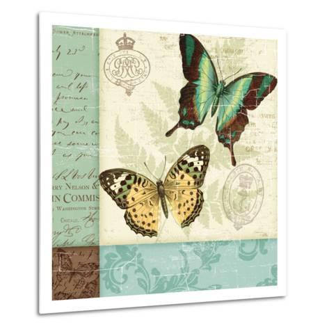 Butterfly Patchwork I-Pela Design-Metal Print