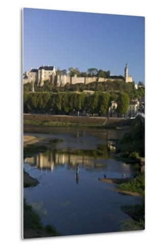 Chateau and River Vienne, Chinon, Indre-Et-Loire, Touraine, France, Europe-Rob Cousins-Metal Print