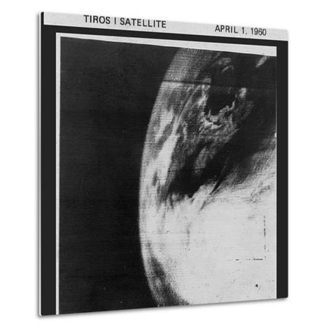 First TV Image of Earth from Space--Metal Print